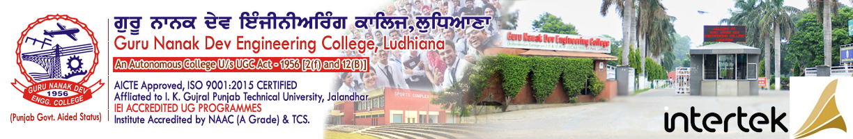 Guru Nanak Dev Engineering College, Ludhiana |